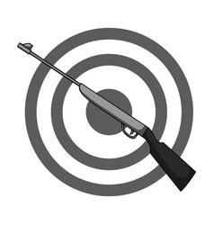 weapon and target shooting gallery in an vector image