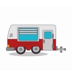 Trailer camp isolated icon vector