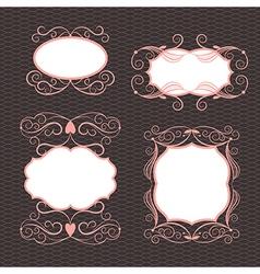 Set of ornamental design elements vector