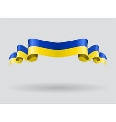 Ukrainian wavy flag vector