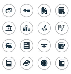Set of simple reading icons vector