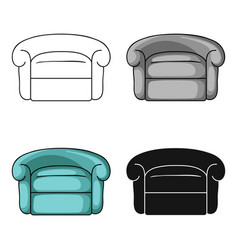 Armchair icon in cartoon style isolated on white vector