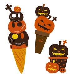 Halloween ice cream vector