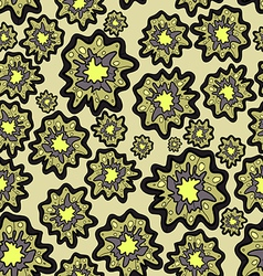 Seamless pattern of blob flowers vector