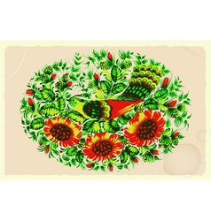 Floral composition in retro style vector