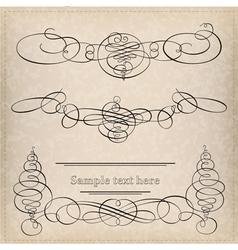 Set of calligraphy elemets vector image