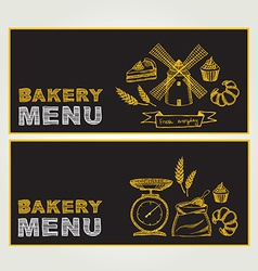 Restaurant menu bakery and cafe template design vector