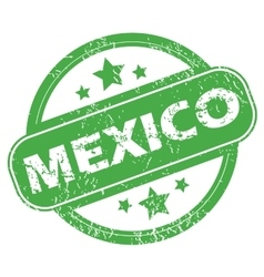 Mexico green stamp vector