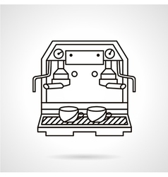 Coffee making sketch icon vector
