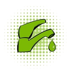Save water comics icon vector
