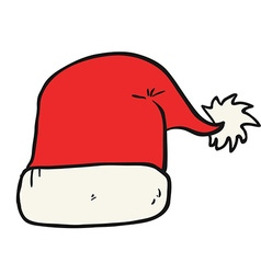 Freehand drawn cartoon christmas hat vector