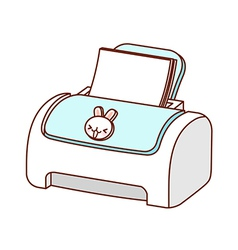 A printer is placed vector image