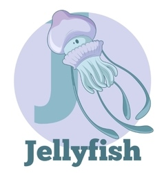 ABC Cartoon Jellyfish vector image vector image