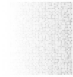 Binary code halftone background zero and one vector