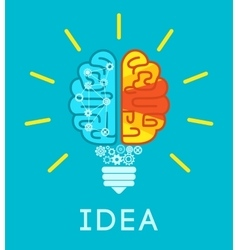 Brain idea concept vector
