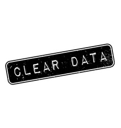 Clear data rubber stamp vector