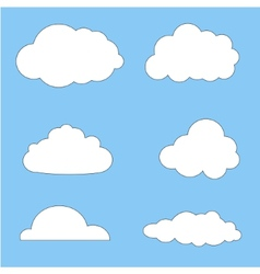 clouds collection eps 10 vector image vector image