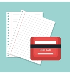 credit card and paper design vector image