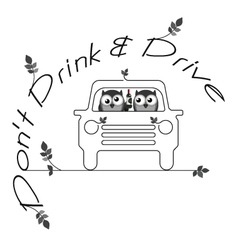 Drink drive vector image vector image