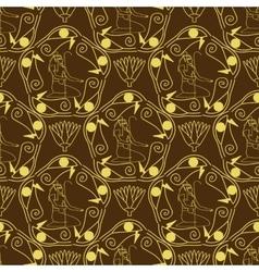 Egyptian seamless pattern vector