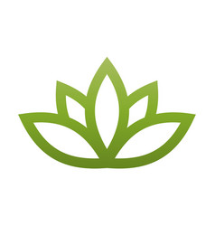 Green lotus symbol spa and wellness theme design vector