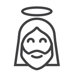 jesus line icon easter and holiday christ sign vector image