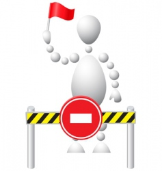man with flag vector image vector image