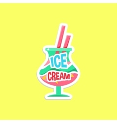 Milkshake bright color summer inspired sticker vector