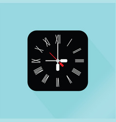 Modern black wall clock vector