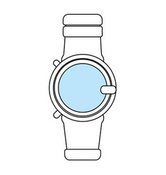 Sketch color silhouette smartwatch with electronic vector