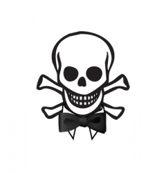 skull with bowtie vector image vector image