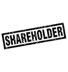 Square grunge black shareholder stamp vector