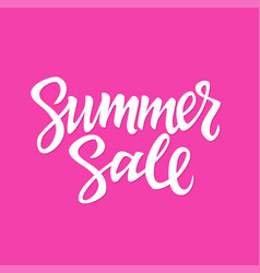 Summer sale - hand drawn brush lettering vector