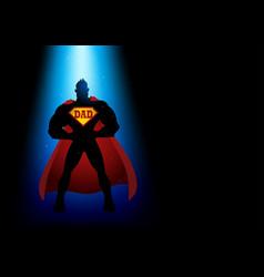 super dad silhouette vector image vector image