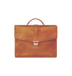 watercolor briefcase on white vector image