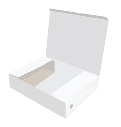White opened box vector