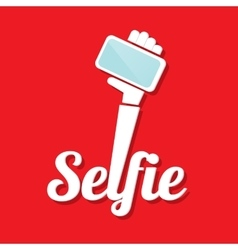 Taking selfie photo on smart phone concept icon vector