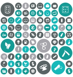 Icons for technology energy vector