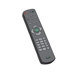 Remote control television color vector image