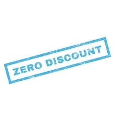 Zero discount rubber stamp vector