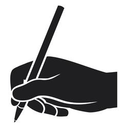 hand writing vector image