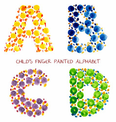 Colorful funny paint alphabet vector