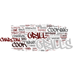 Grill features text background word cloud concept vector