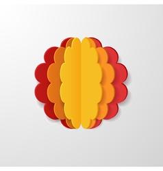 3d flower vector image