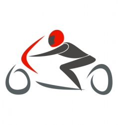 sport bike vector image
