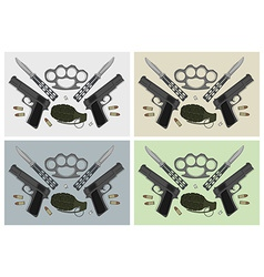 Weapon backgrounds vector