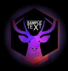 Mystic purple deer vector