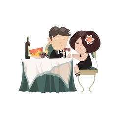 Young adult couple drinking red wine after vector