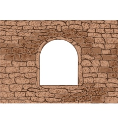 stone window vector image