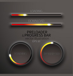 Icons preloaders and progress bars for loading vector image